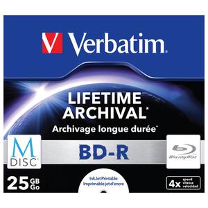 BD-R M-Disc VERBATIM 43823, 4x, 25GB, printabil, 1buc