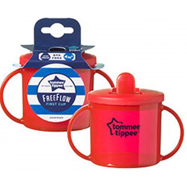 Cana gradata TOMMEE TIPPEE Basics First Cup, 4 luni +, 190 ml, rosu