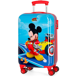 Troler copii DISNEY Lets's Roll Mickey, 55 cm, albastru-rosu