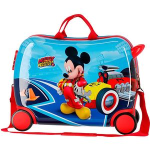 Troler copii DISNEY Let's Roll Mickey, 50 cm, albastru-rosu