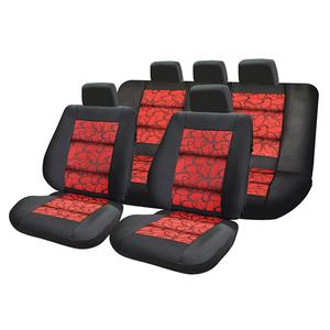 Set huse scaune UMBRELLA Premium Lux 45723, rosu