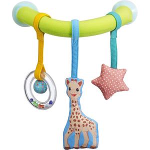 Jucarie arcada cu ventuze pentru masina VULLI Girafa Sophie, 0 luni+, multicolor