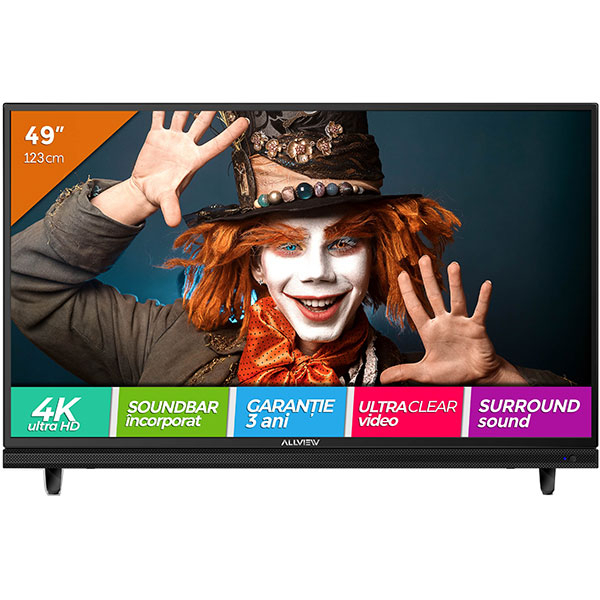 Televizor LED Ultra HD 4K, 123 cm, ALLVIEW 49ATC5000-U