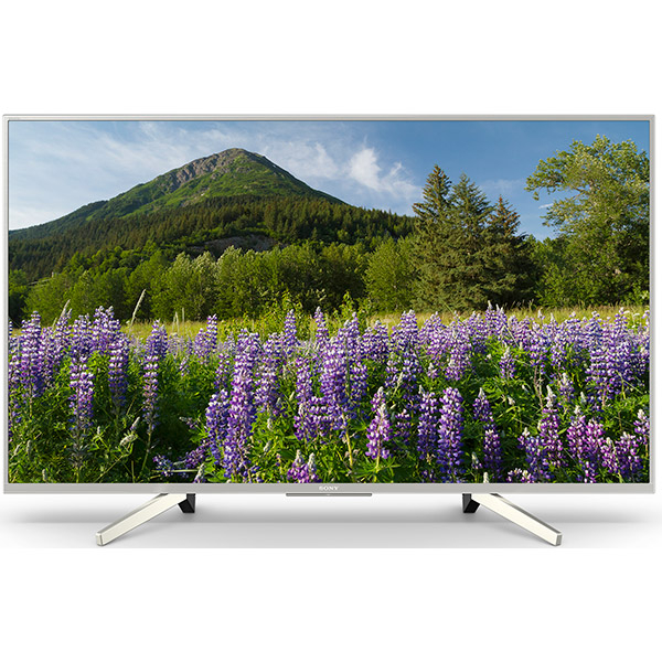 Televizor LED Smart Ultra HD, 4K HDR, 108 cm, Sony BRAVIA KD-43XF7077S, Argintiu
