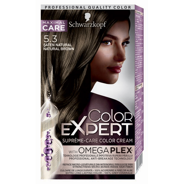 Vopsea de par SCHWARZKOPF Color Expert, 5.3 Saten Natural, 147ml