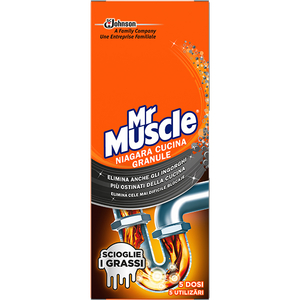 Granule pentru desfundat tevi MR. MUSCLE Niagara, 250g
