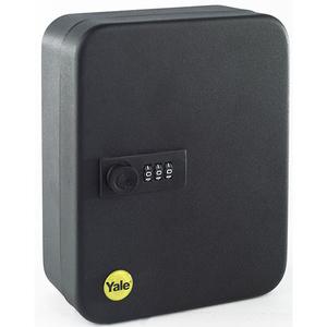 Cutie mica pentru chei YALE YKB/200/CB2, tabla, negru, 20 chei