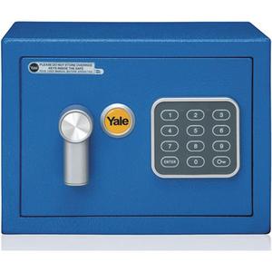 Seif electronic mini YALE YSV/170/DB1/B, otel, albastru