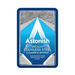 Pasta speciala pentru curatarea suprafetelor din inox +burete ASTONISH C8620, 250g