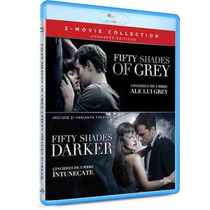 Pachet Cincizeci de umbre intunecate + Cincizeci de umbre ale lui Grey Blu-ray