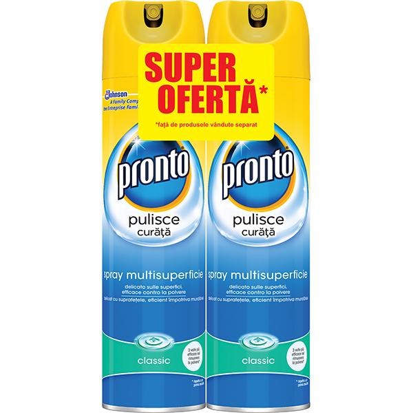 Pachet Spray Pentru Mobila Pronto Lemn Clasic 2x300ml