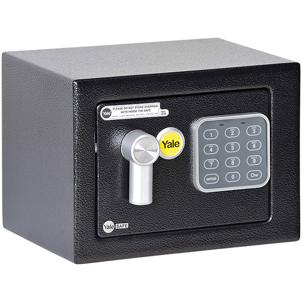 Seif electronic mini YALE YSV/170/DB1, cifru, otel