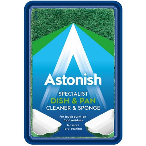 Pasta speciala pentru curatarea vaselor de gatit +burete ASTONISH C8610, 250g