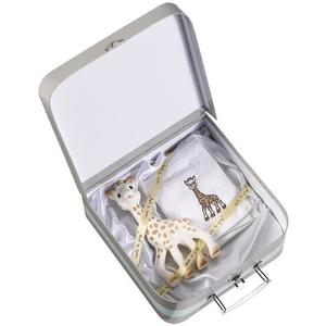 Set cadou VULLI Girafa Sophie, 0 luni+, alb-gri
