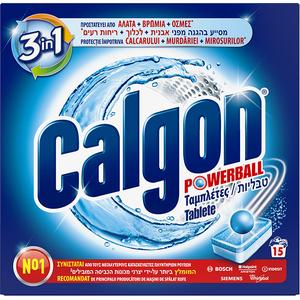 Tablete anticalcar CALGON PowerBall, 15 bucati