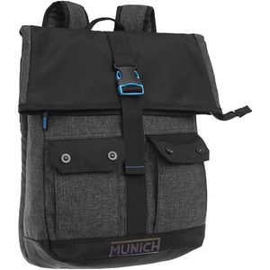 Rucsac MUNICH Black to color 5232351, compartiment laptop, negru