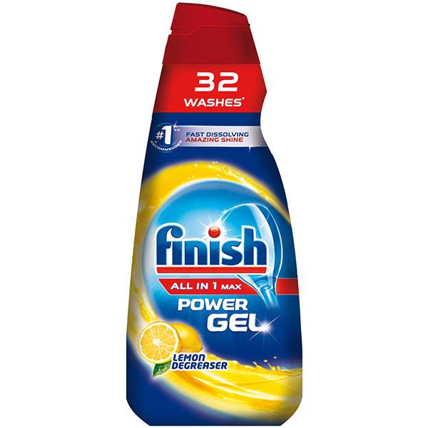 Detergent vase gel FINISH All in One Max 650 ml Lemon pentru masina de spalat vase