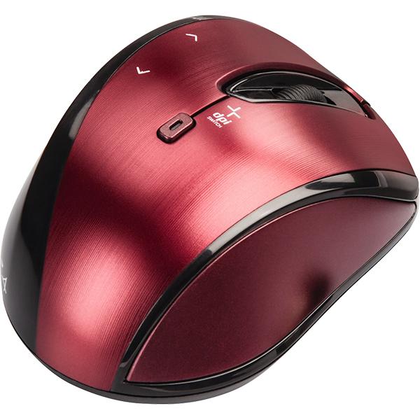 Mouse Wireless HAMA Cuvio, 1600 dpi, rosu