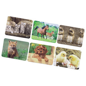 Mouse Pad HAMA 54736, 1 bucata, 6 imagini diferite cu animale, colorat