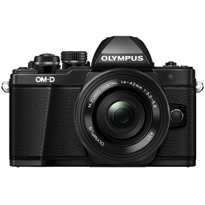 Aparat foto Mirrorless OLYMPUS E-M10 MARK II PANCAKE + Obiectiv 14-42MM, 16 MP, Negru