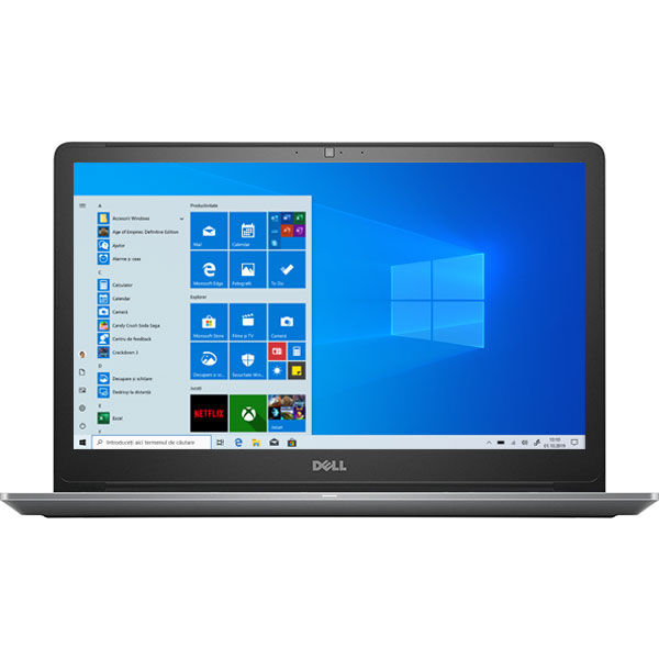 "Laptop DELL Vostro 5568, Intel Core i5-7200U pana la 3.1GHz, 15.6"" Full HD, 8GB, SSD 256GB, NVIDIA GeForce 940MX 2GB, Windows 10 Pro, gri"