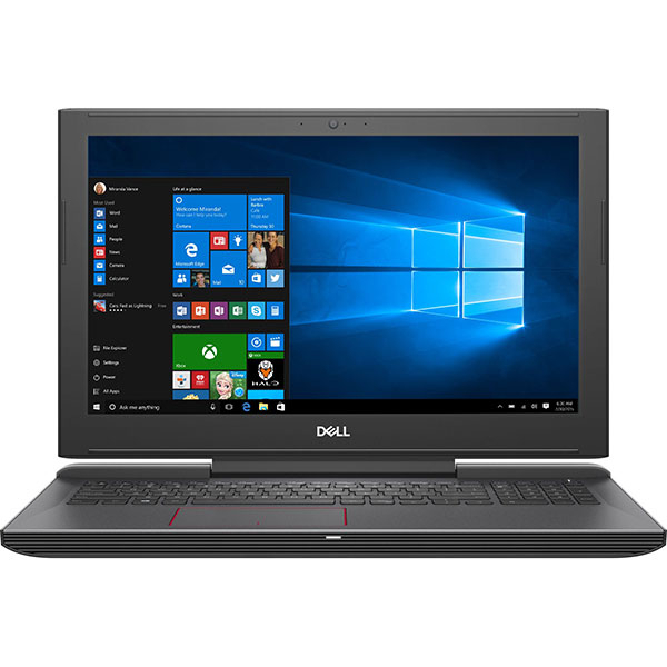 "Laptop Gaming DELL G5 5587, Intel Core i7-8750H pana la 4.1GHz, 15.6"" Full HD, 8GB, 1TB + SSD 128GB, NVIDIA GeForce GTX 1050 Ti 4GB, Windows 10 Home, Negru"