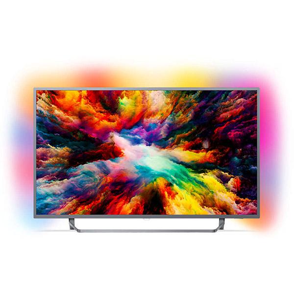 Televizor LED Smart Ultra HD, 126cm, Android TV, Ambilight, PHILIPS 50PUS7303/12