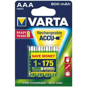 Acumulatori AAA VARTA 56703101404, 800 mAh, 4 bucati