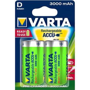 Acumulatori D VARTA 56720101402, 3000 mAh, 2 bucati