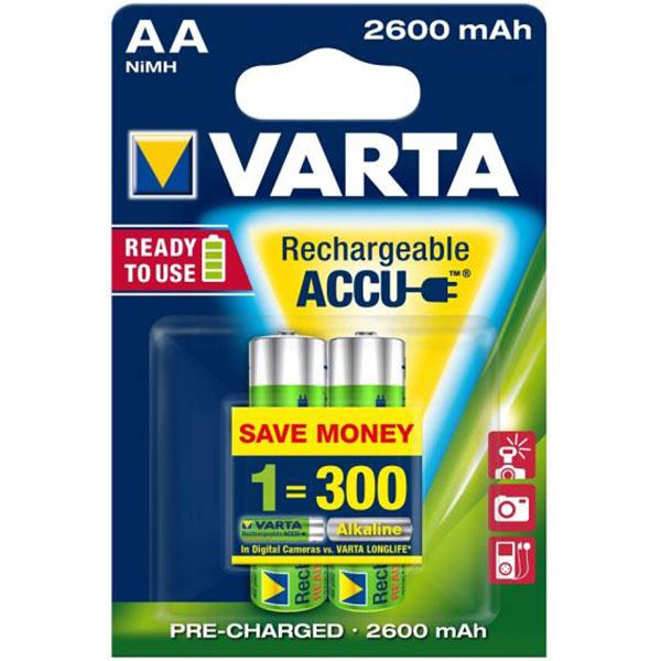 Acumulatori AA VARTA 5716101402, 2600 mAh, 2 bucati