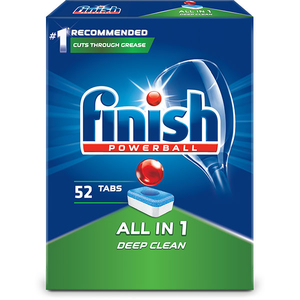 Detergent vase FINISH All in One 52 tablete pentru masina de spalat vase
