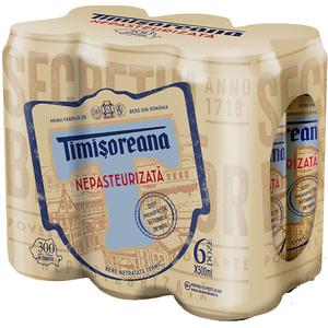 Bere blonda TIMISOREANA Nepasteurizata bax 0.5L x 6 cutii
