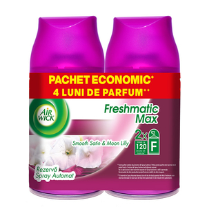 Rezerva odorizant camera AIR WICK Freshmatic Satin/Moon Lily, 2x250ml