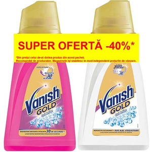 Solutie VANISH Gold Gel, 940ml + VANISH Gold Gel White, 940ml