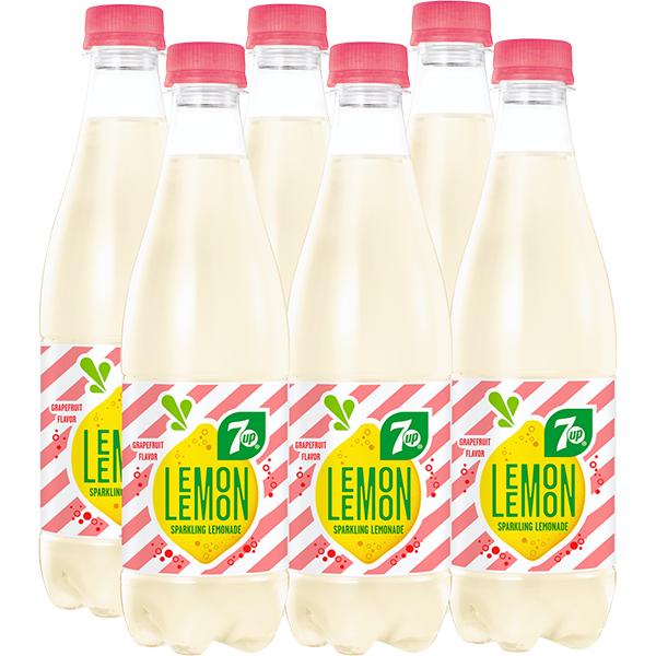 Limonada 7UP Lemon Grapefruit bax 0.5L x 6 sticle
