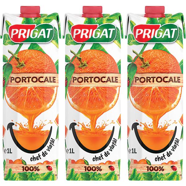 Nectar PRIGAT Portocale bax 1L x 3 cutii