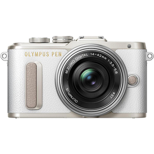 Aparat foto Mirrorless OLYMPUS E-PL8, 16.1 MP+ Obiectiv 14-42MM, Alb