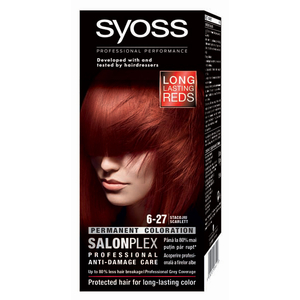 Vopsea de par SYOSS Color Bl, 6-27 Scarlet, 115ml