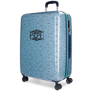 Troler PEPE JEANS LONDON Pierce, 69cm, albastru