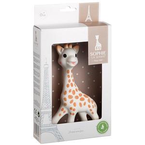 Jucarie dentitie VULLI Girafa Sophie - Il etait une fois, 0 luni+, alb-maro