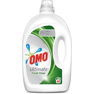Detergent lichid OMO Ultimate Fresh Clean, 2.8l, 40 spalari