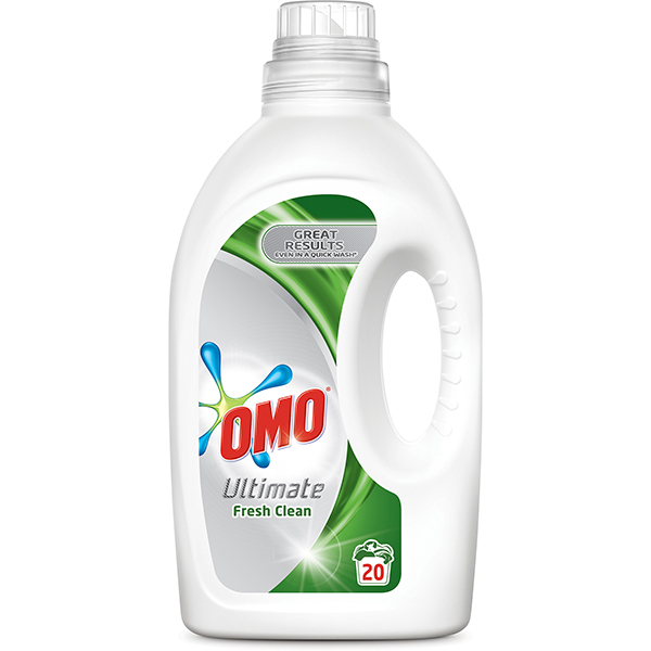 Detergent lichid OMO Ultimate Fresh Clean, 1.4l, 20 spalari