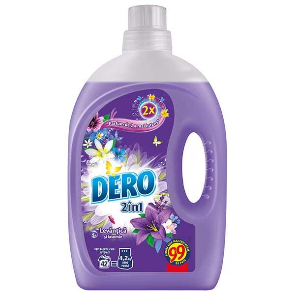 Detergent automat lichid DERO 2 in 1 Iris Levantica si Iasomie, 2.94l, 42 spalari