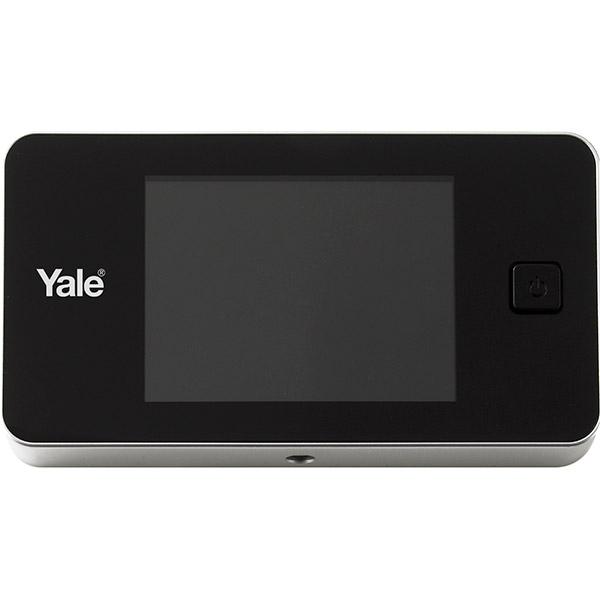 """Vizor electronic standard YALE, LCD 3.2"""", 2 x AAA, argintiu"""
