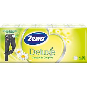 Servetele nazale ZEWA Deluxe Camomile, 3 straturi, 10 x 10 buc