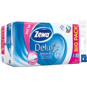 Hartie igienica ZEWA Deluxe Delicate Care, 3 straturi, 16 role