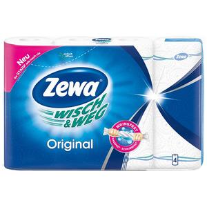 Prosoape de hartie ZEWA Wisch&Weg Original, 2 straturi, 4 role