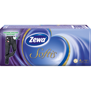 Servetele nazale ZEWA Softis Neutral, 4 straturi, 10 x 9 buc