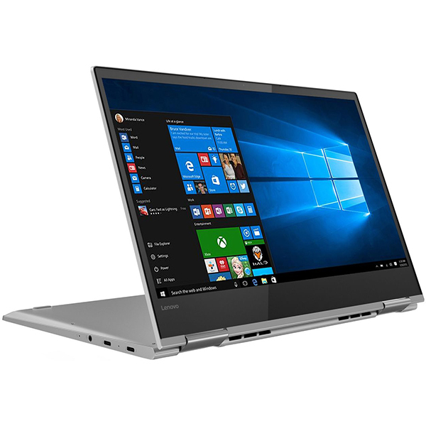 "Laptop 2 in 1 LENOVO Yoga 730-13IKB, Intel Core i7-8550U pana la 4.0GHz, 13.3"" 4K Touch Display, 8GB, SSD 512GB, Intel UHD Graphics 620, Windows 10 Home, Platinum"