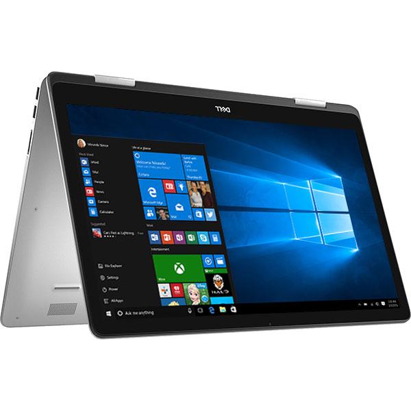 "Laptop 2 in 1 DELL Inspiron 17 7786, Intel Core i7-8565U pana la 4.6GHz, 17.3"" Full HD Touch, 16Gb, SSD 512GB, NVIDIA GeForce MX150 2GB, Windows 10 Home, Argintiu"